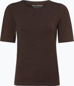 Brązowy t-shirt Franco Callegari w stylu casual
