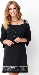 Czarna sukienka Makadamia oversize
