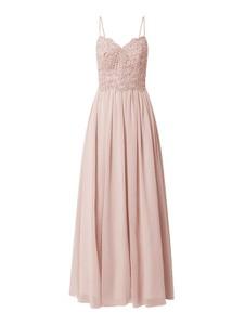 Sukienka Laona maxi rozkloszowana z dekoltem w kształcie litery v