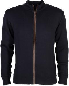 Czarny sweter Willsoor w stylu casual ze stójką