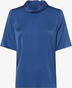 Niebieska bluzka Hugo Boss z krótkim rękawem