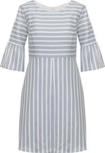 Sukienka Hugo Boss mini z okrągłym dekoltem w stylu casual
