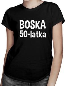 Czarny t-shirt Koszulkowy z krótkim rękawem z bawełny