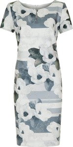 Sukienka Poza z okrągłym dekoltem prosta