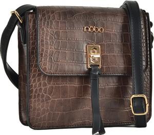Brązowa torebka NOBO w stylu retro matowa na ramię