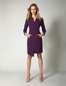 Sukienka Molton z tkaniny z długim rękawem