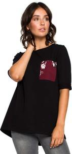 Bluzka MOE z bawełny z krótkim rękawem