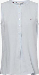 Niebieska bluzka Tommy Hilfiger w stylu casual z okrągłym dekoltem