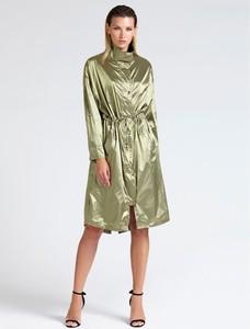 Zielony płaszcz Guess w stylu glamour