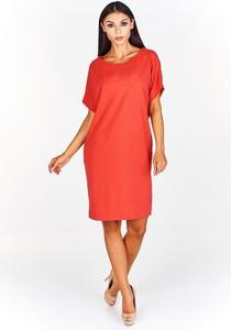 Sukienka Fokus z krótkim rękawem w stylu casual oversize