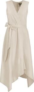 Brązowa sukienka DKNY
