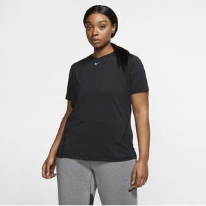 Czarny t-shirt Nike z okrągłym dekoltem w sportowym stylu z krótkim rękawem