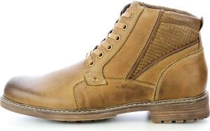Brązowe buty zimowe prima moda