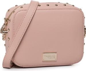 Różowa torebka Trussardi Jeans na ramię