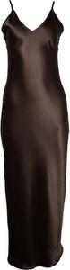 Czarna sukienka So Fluffy na ramiączkach z satyny