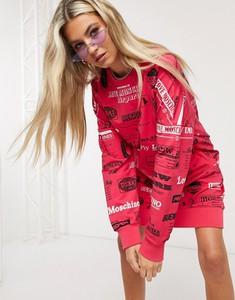 Różowa sukienka Love Moschino z dżerseju mini