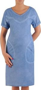 Sukienka POLSKA z krótkim rękawem z bawełny midi