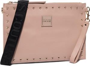 Różowa torebka Versace Jeans na ramię