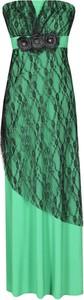 Zielona sukienka Fokus z dzianiny