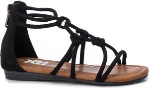 Czarne buty dziecięce letnie Xti Kids dla dziewczynek