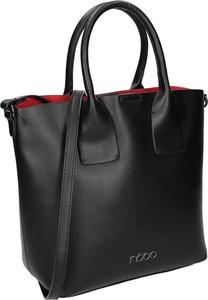 Czarna torebka NOBO w stylu glamour ze skóry ekologicznej do ręki
