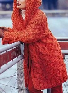 Czerwony sweter Sandbella z dzianiny w stylu casual
