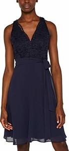 Czarna sukienka amazon.de z dekoltem w kształcie litery v mini