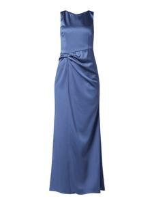 Niebieska sukienka Marie Noir bez rękawów maxi