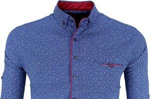 Niebieska koszula G-port z bawełny w stylu casual