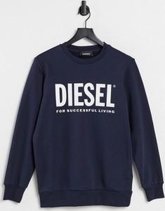 Granatowa bluza Diesel w młodzieżowym stylu