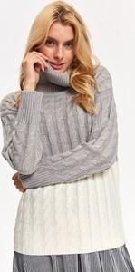 93e2eac09afbe6 swetry damskie szare - stylowo i modnie z Allani