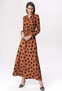 Sukienka Nife z długim rękawem z dekoltem w kształcie litery v