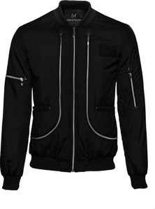 Czarna kurtka Guns&Tuxedos z tkaniny
