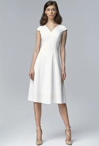 Sukienka Nife midi z dekoltem w kształcie litery v
