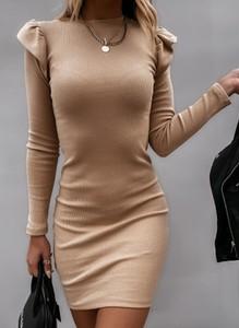 Sukienka Sandbella z dresówki z długim rękawem mini