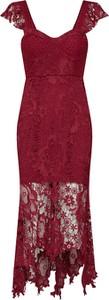 Sukienka Love Triangle z krótkim rękawem midi asymetryczna