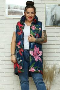 Kamizelka KARKO w stylu casual z tkaniny