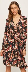 Sukienka Morgan z tkaniny z dekoltem w kształcie litery v z długim rękawem