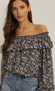 Granatowa bluzka Renee z okrągłym dekoltem