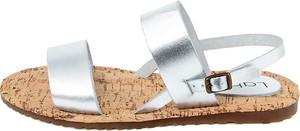 Sandały Lab78 w stylu casual ze skóry z klamrami
