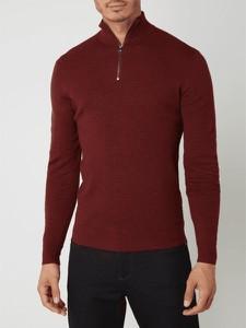 Czerwony sweter Esprit w stylu casual ze stójką