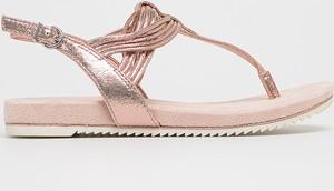 Złote sandały Tamaris