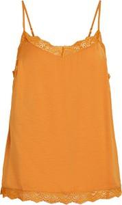 Pomarańczowa bluzka Vila z okrągłym dekoltem