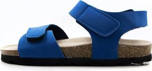 Niebieskie buty dziecięce letnie Lamino na rzepy ze skóry dla chłopców
