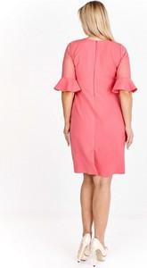 Różowa sukienka Nubile z krótkim rękawem