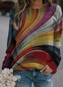 Bluzka Cikelly z okrągłym dekoltem w stylu casual