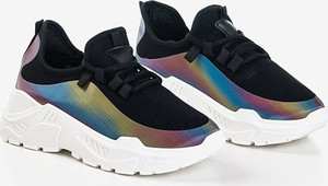 Buty sportowe Royalfashion.pl na platformie sznurowane