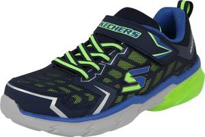 2fbf296855b69 Granatowe buty sportowe dziecięce Skechers sznurowane