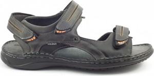 Brązowe buty letnie męskie butyolivier.pl w militarnym stylu