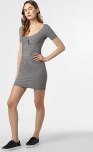 Sukienka Calvin Klein dopasowana mini z bawełny